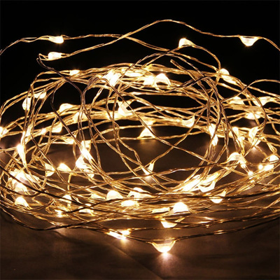 10m 100LED  Copper Wire Seed Fairy Lights - Warm White