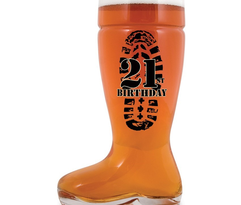 21st Boot Glass