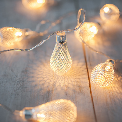 2m 20 Mesh Light Bulb Fairy Lights - Warm White
