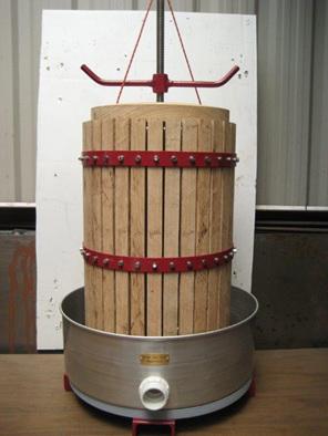 30 litre oak wine press grape press cider press for Home wine press