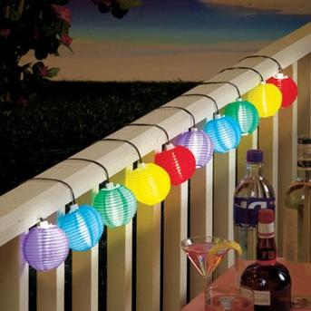 3m Color Solar Mini Lanterns String Lights - Cool White