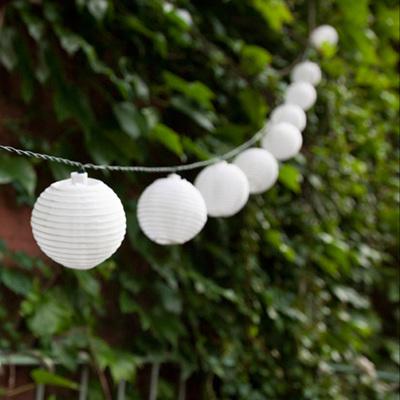 3m White Solar Mini Lantern String Lights - Cool White