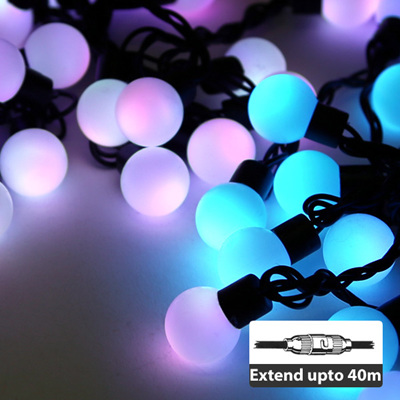 5m Outdoor Connectable Candy Ball Fairy Lights - Rainbow