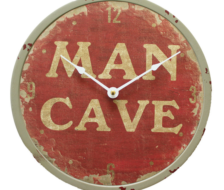 Mancave Iron Clock
