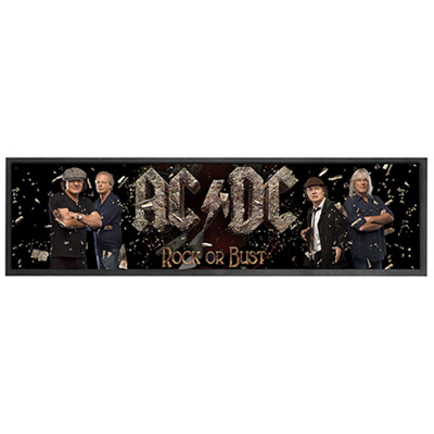 ACDC Rock or Bust Rubber Backed Bar Mat