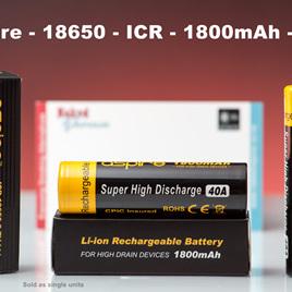 Aspire - 18650 - ICR - 1800mAh - 40A