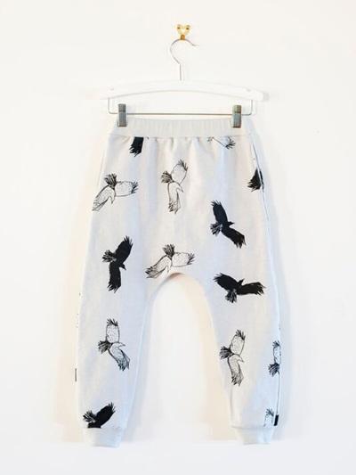 Bandit Kids - Spooky Birds Drop Crotch Pants (Grey)