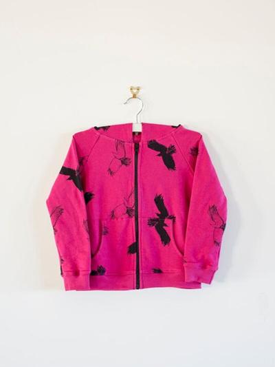 Bandit Kids - Spooky Birds Zip Hoodie (Cherry)