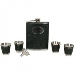 Black 21st Flask Set/4 cups