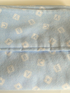 Blue ABC Moses Basket Sheets
