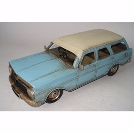 Blue Tin Car