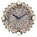 Bone Skeleton Clock