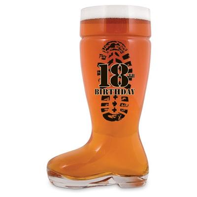 Boot Glass - 18th & 21st Birthday!