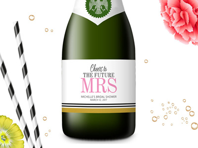 Bridal Shower Mini Champagne Labels 04
