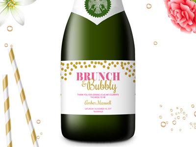 Bridal Shower Mini Champagne Labels 05
