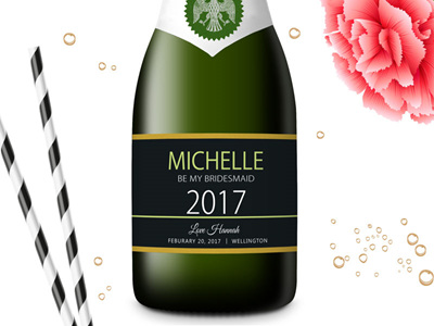Bridesmaid Mini Champagne Labels 06