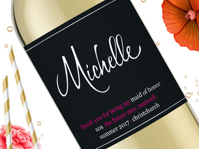 Bridesmaid Wine Labels 02