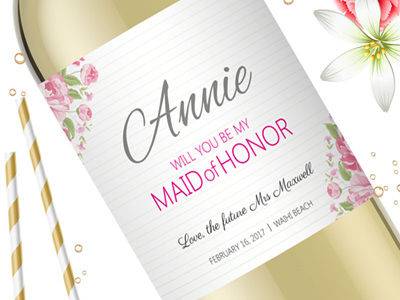 Bridesmaid Wine Labels 03