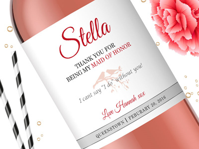 Bridesmaid Wine Labels 06