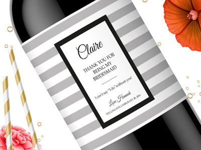 Bridesmaid Wine Labels 07