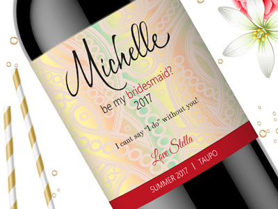 Bridesmaid Wine Labels 10