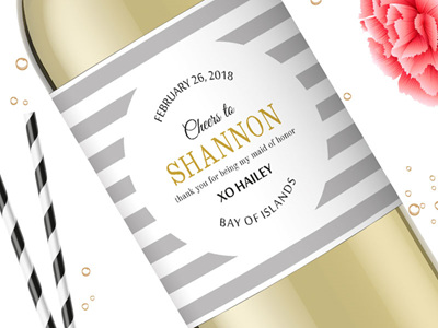 Bridesmaid Wine Labels 11