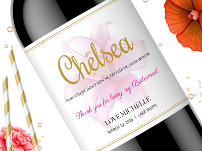 Bridesmaid Wine Labels 12