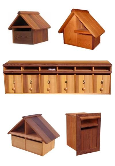Cedar Wood Letterboxes