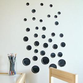 Chalkboard dots wall decal  StickyTiny