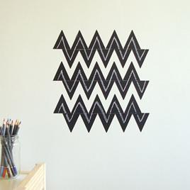Chalkboard triangles wall decal  StickyTiny