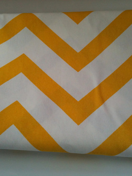 Chevron Cot Duvet Cover - yellow and grey