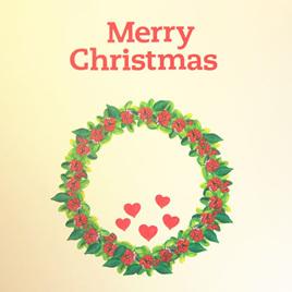Christmas Wreath wall decal  StickyTiny
