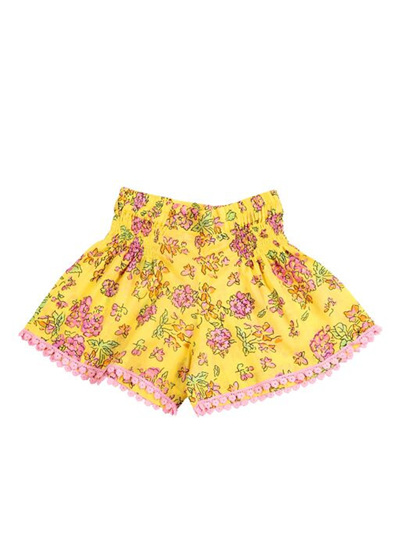 Coco and Ginger Bluebell Shorts - Yellow Greek Meadow