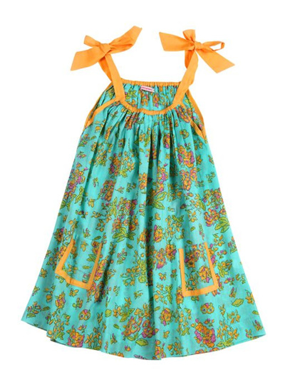 Coco and Ginger Giselle Dress - Aqua Greek Meadow