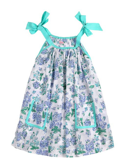 Coco and Ginger Giselle  Dress -  Blue Greek Meadow