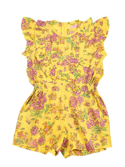 Coco and Ginger Peony Jumpsuit - Yellow Greek Meadow