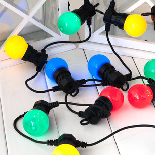Connectable Vintage Festoon LED Lights 5m - Multi Color