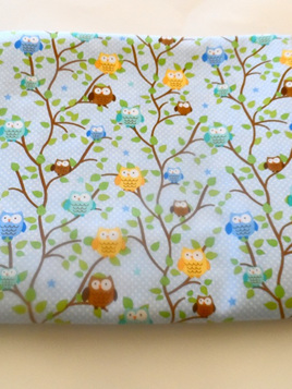 Cot Duvet Cover - Owls and Spots