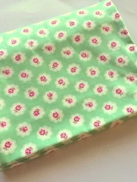 Cot Duvet Cover - Petite Rose Green