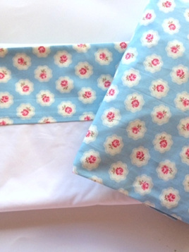 Cot Sheet Set - Petite Rose Blue
