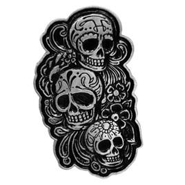 Doll Skull Pin