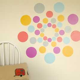 Turkish Delight dots wall decal