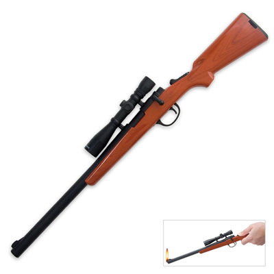 Double Bolt Action Rifle Gas BBQ Lighter
