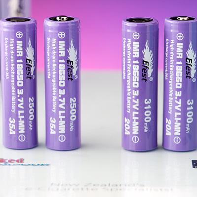 Efest Purple Series - 18650 IMR - 2500mAh, 2600mAh or 3100mAh