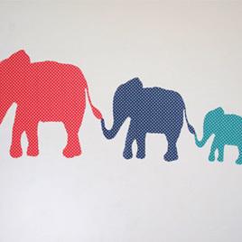 Dotty Elephants Mini Mural wall decal