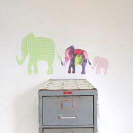 Elephants wall decal