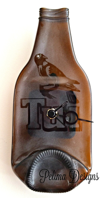 Etched Tui bottle
