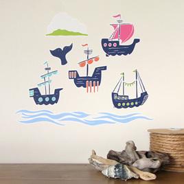 European Sailing Ships wall decal StickyTiny