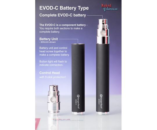 evod c battery complete naked vapour. Black Bedroom Furniture Sets. Home Design Ideas