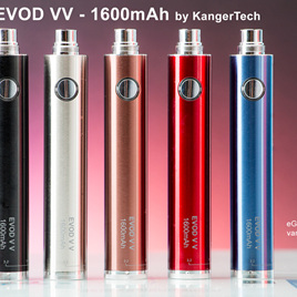 EVOD VV Twist Style Battery - 1600mAh